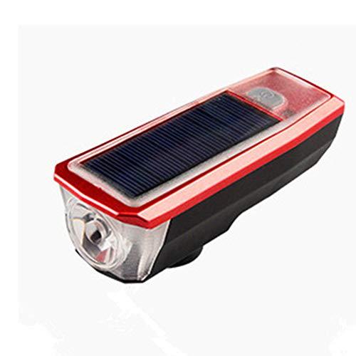 BAQIU Juego de Luces Recargables USB para Bicicleta, Faro Delantero superbrillante y luz LED Trasera para Bicicleta, 5 Modos de Sonido, Mejor iluminación de Ciclo Delantera y Trasera