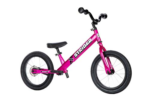 Strider – 14x Sport Balance Bike, Ages 3 to 7 Years - Pink