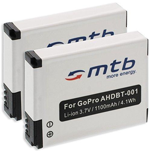 2X Akku ABPAK-001, AHDBT-001, AHDBT-002 für Gopro Hero/HD Hero/HD Hero 2