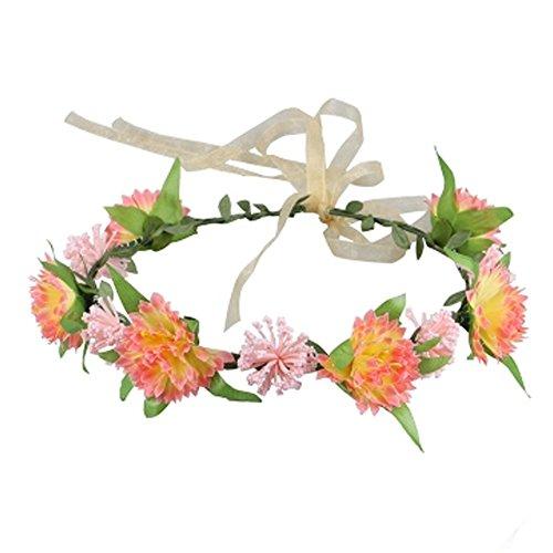 Sch?ne Handcrafted Haar Crown Kopfbedeckung Meer Blumen Kranz, Gelb