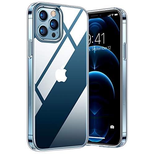 TORRAS Diamonds Series Compatible for iPhone 12 Pro Max Case, [Non-Yellowing] [5.0 Military Grade Drop Protection] Shockproof Protective 12 Pro Max Case Slim Thin Cover, Clear