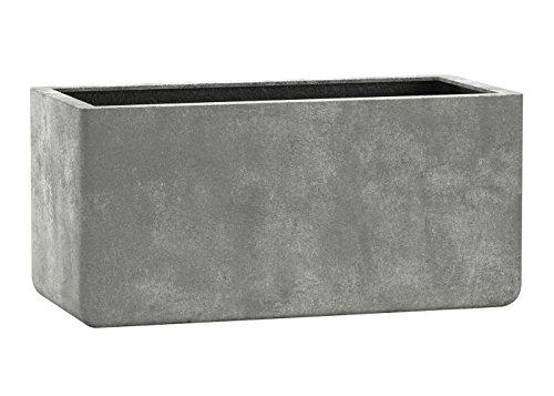 Esteras 800512 Fiberglas Blumenkübel Pflanzenkübel Übertöpfe Ulster Old Stone Grey 57cm