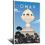 Oman Vintage-Reise-Poster, Bild, Poster, Familie,