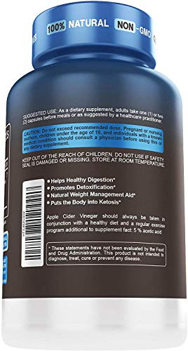 5x Potent Apple Cider Vinegar Capsules with Mother + BHB SALTS Keto Diet Pills With MCT OIL, Fat burner & Weight Loss Supplement Formula Keto Pills For Women Men Appetite Suppressant ACV Detox Support 6