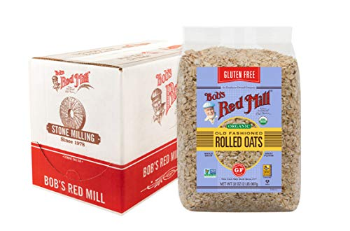 Bob's Red Mill Gluten Free Organic Old Fashioned Rolled Oats, rolled oats, 128 Ounce