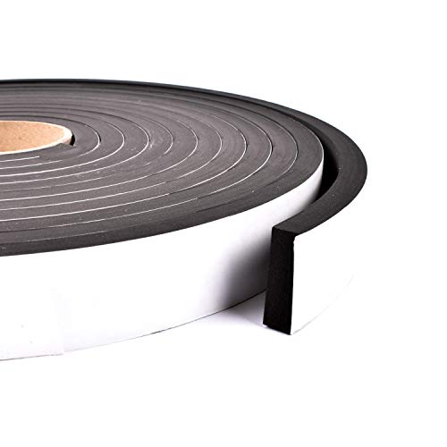 Sponge Neoprene Stripping W/Adhesive 1-1/2in Wide X 1/2in Thick X 25ft Long
