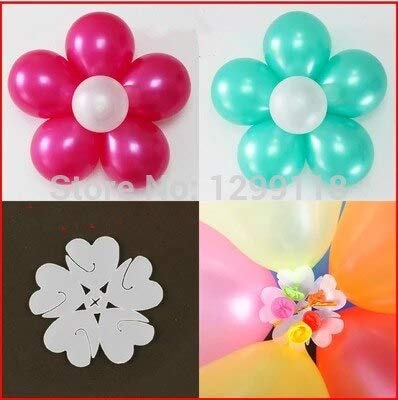 Utini 10pcs/lot Flower Balloons Clips Self-Locking Clip Five-in-one Latex Balloons Clips Load Bearing Pendant Balloon Accessory