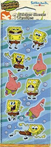 Stickety-Doo-Da Spongebob Squarepants 3 Sticker Sheets