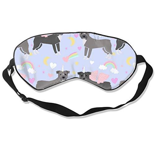 Preisvergleich Produktbild Pitbull Magic Rainbows Dog Breed Pastel Purple Sleep Mask Pack Men and Women Or Children Eye Mask No Pressure Eye Masks for Sleep & Travel