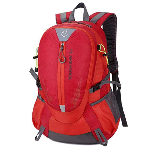 LILINSS Mochila de viaje al aire libre, de gran capacidad multifuncional impermeable y ligera mochila de viaje (36-55L), color rojo