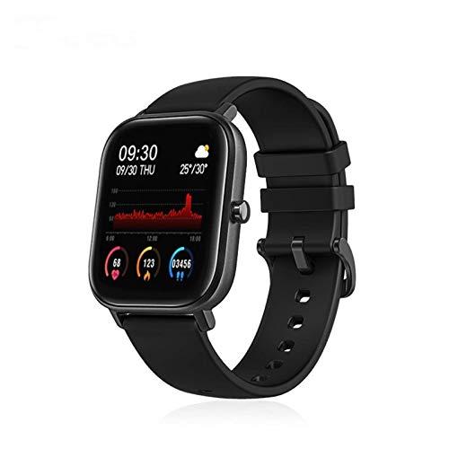 LXS Rastreador P8 Inteligente Reloj Mujeres de los Hombres 258 UI Cara Pulsera de Reloj Deportivo IP67 Monitor de Ritmo cardíaco GTS SmartWatch for el teléfono (Color : Black Add Starp B)