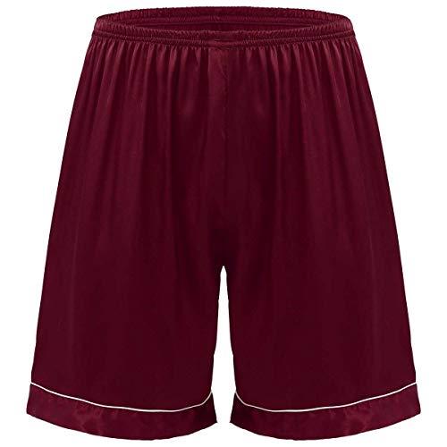 inhzoy Herren Shorts Satin Boxershorts Trunk Kurz Schlafanzughose Pyjamahose...
