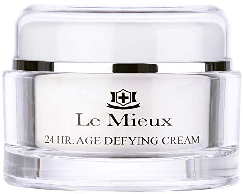 Le Mieux 24 Hr. Age Defying Cream - Hydrating Facial Moisturizer with Hyaluronic Acid & Peptides, Rich Anti-Aging Face Cream, No Parabens or Sulfates (1.75 oz / 52 ml)