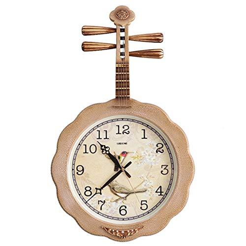 YEESEU Tridimensional Reloj de Cuco, Reloj de Pared de Madera for no marcando Dormitorio Decorativo de la Sala