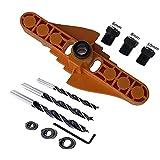 lefeindgdi Herramientas de carpintería para perforación, localizador de perforación ajustable, localizador de perforación de agujero recto dos en uno para perforación familiar