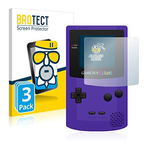 BROTECT Entspiegelungs-Panzerglasfolie kompatibel mit Nintendo Gameboy Color (3 Stück) - Anti-Reflex Panzerglas Schutz-Folie Matt