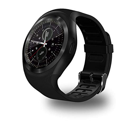 InterActive SmartWatch Y1 - Bluetooth Uhr kompatibel mit Android iOS Windows intelligente Armbanduhr mit SIM & TF Slot 2019