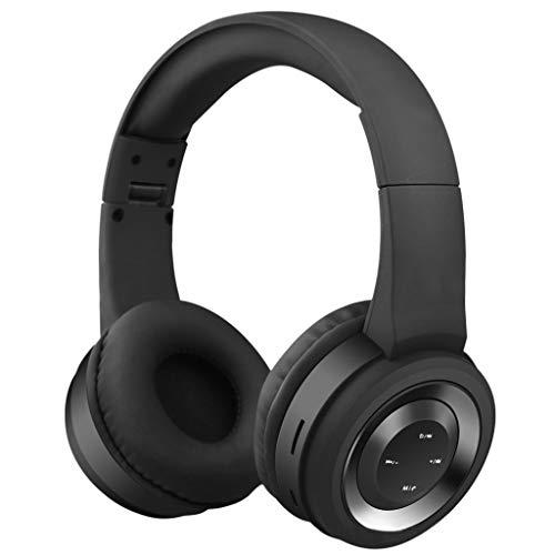 Flamedre Bluetooth koptelefoon draadloos met microfoon over dempen voor iPhone Huawei Samsung zwart