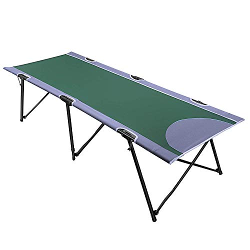 PORTAL Case of 500 Packs, Instant Folding Portable Camping Cot, Green