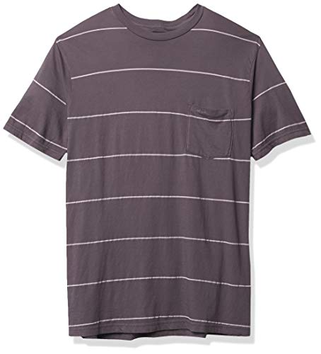 RVCA PTC Stripe Ii camisa de manga corta con cuello redondo para hombre - negro - Medium