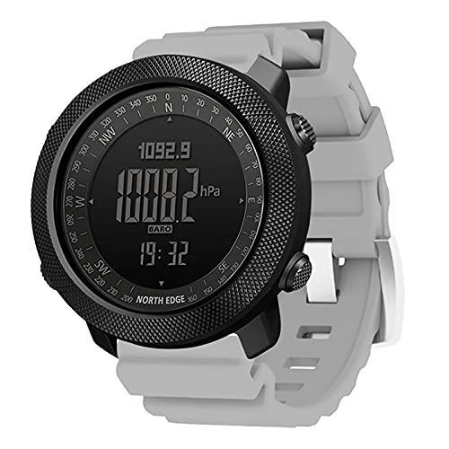 ZGZYL Apache Smart Watch Sport da Uomo Sport Smart Watch Running Rock Arrampicata Swimming Compass Altimetro Barometro Meteo Previsioni Meteo 50M Orologio da Cucina Impermeabile,F