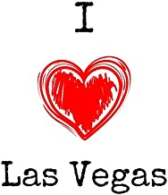 I Love Las Vegas: I Love Las Vegas Themed Notebook/ Notepad/ Journal/ Diary For Gamblers, Men, Women, Fans, Teens and Kids   120 Black Lined Pages   8.5 x 11 inches   A4