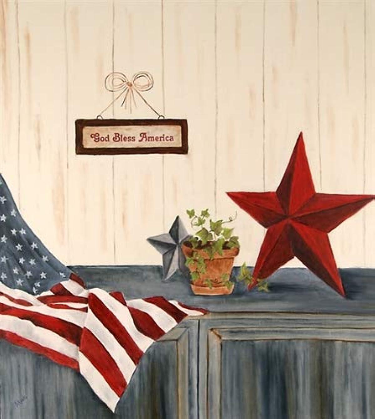 Stars & Stripes Dishwasher Magnet Cover (Large)
