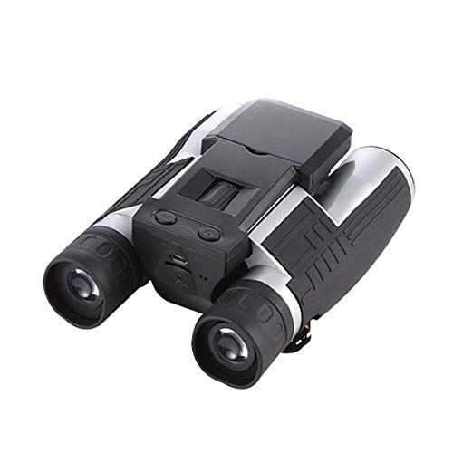 Zhhhk 12x32 binoculares Digitales, telescopio cámara con Dos LCD Video Foto Grabador for conciertos de observación de Aves Libre Deportes Juegos