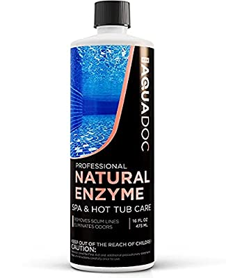MAV AquaDoc Spa Enzyme for Hot Tubs, Spa Enzyme Water Treatment to Clarify Hot Tub Water. Natural Enzyme Hot Tub Cleaner, Spa Enzyme Cleaner & Natural Hot Tub Chemicals to Make Your Spa Perfect