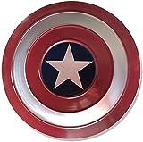 HLWJXS Capitán América Escudo de Metal 1: 1 Modelo de aleación de Mano, Traje de Disfraz de superhéroe Capitán América Escudo Metal47cm Marcas de Bala