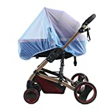 LJQLXJ Mosquitera Baby Kids Mosquito Net Infant Newborn Baby Protection Mesh for Strollers Universal Stroller Mosquito Net,Blue