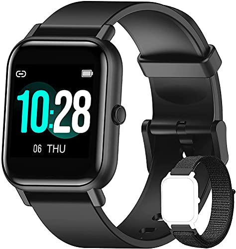 Blackview R3 Smartwatch, Reloj Inteligente Hombre - Oxímetro de Pulso (SpO2) | Esfera de Reloj de DIY | Pulsera Actividad Inteligente Caloría | Smartwatch Mujer para Android e iOS (Versión Mejorada)