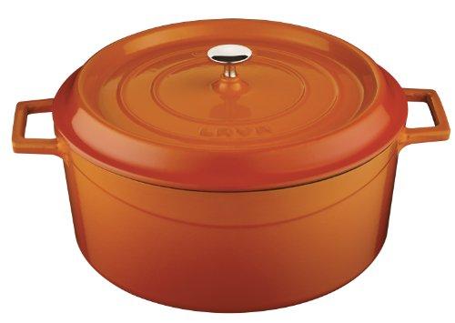 LAVA Cookware LV Y TC 32 K2 Plat Rond Diamètre 32 cm, Fonte, Orange