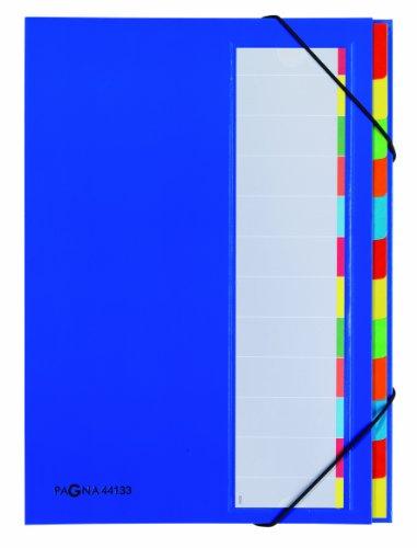 Pagna Deskorganizer Premium (Sammelmappe, 12 Fächer) blau