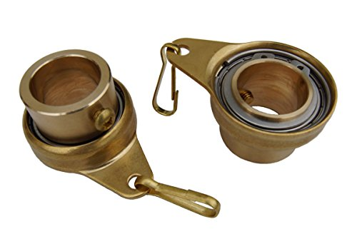 Stanwood Wind Sculpture Non Tangle Flagpole Swivel/Rotating Ring, Brass Spinner with Stainless Steel Bearing - 1', Pack of 2, Imported