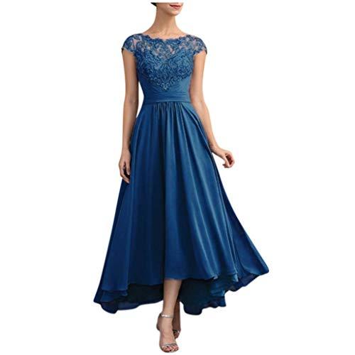 Schöne Standesamtkleid Damen Spitzekleid Lang Sleeveless,Elegant Ärmellos Abendkleider Hochzeitskleid Brautjungfernkleid Lang URIBAKY