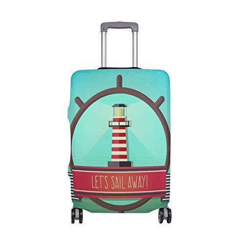 ALINLO Funda de Equipaje para Faro náutico Vintage para Maleta de Viaje de 18-32 Pulgadas, ljoljnz36354cb