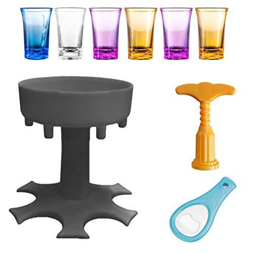 6 Schnapsglas Spender Und Halter Set, Schnaps Spender, Schuss Spender, Mehrere 6 Schnaps Spender Für Bar Party Trinkspiele