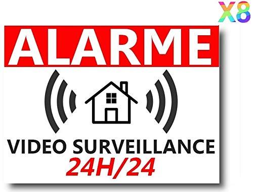 bon comparatif 8 autocollants pour la maison «Alerte de vidéosurveillance» Beaucoup de protection contre le vol… un avis de 2021