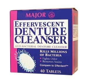 Major Pharmaceuticals 479931 Efferdent Effervescent Denture Antacid/Analgesic Tablet, 40 Tablets