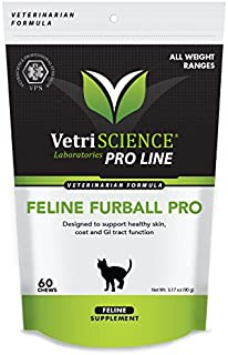 VetriScience Feline Furball Pro - Prevent Cats from Coughing Up Hairballs - 60 Soft Chews