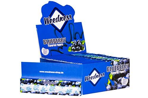Weedness Long-Papers met smaak King Size - 5 boekjes Blueberry bonte papier lang - blunt papier met smaak rookpapier
