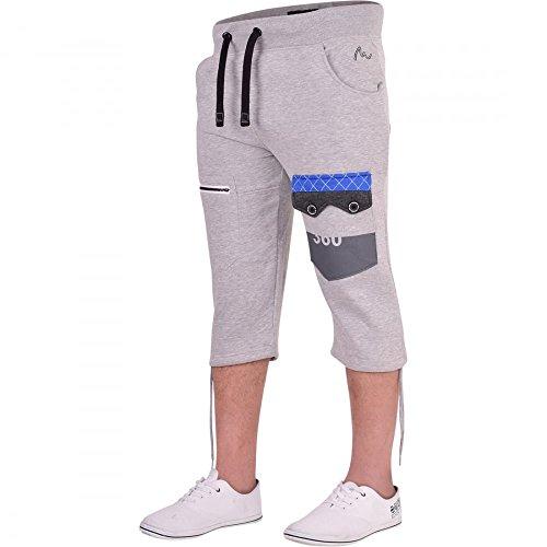 360 Degrees - Pantalón Corto Deportivo - Cargo - para Hombre Gris Gris Claro M