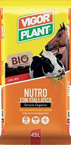 VIGORPLANT Nutro con stallatico terriccio Organico per Il nutrimento di orti e Giardini Confezione da 45 Litri