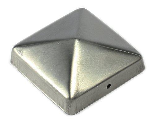 Pfostenkappe aus Edelstahl Zaunkappe Pyramide 91 für Pfosten 9x9 cm von Gartenpirat®
