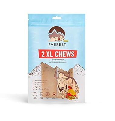 2 Piece Value Pack 100% Organic Natural Dog Chews/Treat, Made from Yak & Cow Milk, Organic Dog Treat (Medium Dogs)