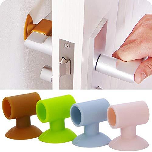 Heng deurklink crashpad rubberen deurknop slot bumper beschermer stop demper demper deur spatborden anti-ongeluk muurbeschermers, roze