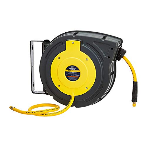 AmazonCommercial Air Tool Hose Reel Water Retractable Polypropylene 3/8