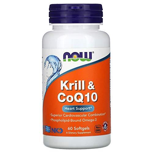 NOW Neptune Krill 500mg & CoQ10 50mg 60 Softgels, 60 g