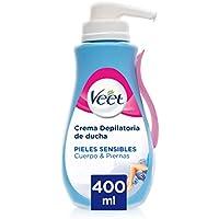 Veet Veet Crema Depilatoria Corporal Para Usar Bajo La Ducha Para Mujer - Con Dosificador - Piel Sensible - 400Ml 400 Unidades 490 g